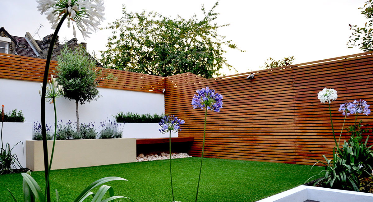 Low maintenance, artificial grass, easy care, practical, multilevel