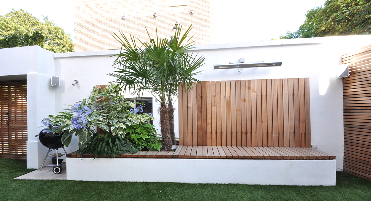 Living Room Garden Design in London Bamboo Landscaping