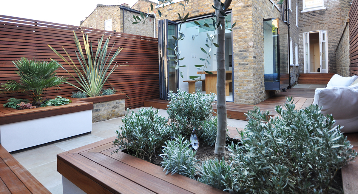 small city garden design london bamboo landscaping