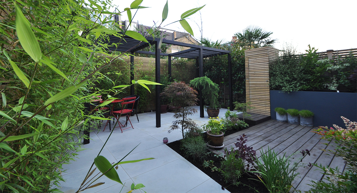Contemporary Japanese Garden Design Clapham London Bamboo