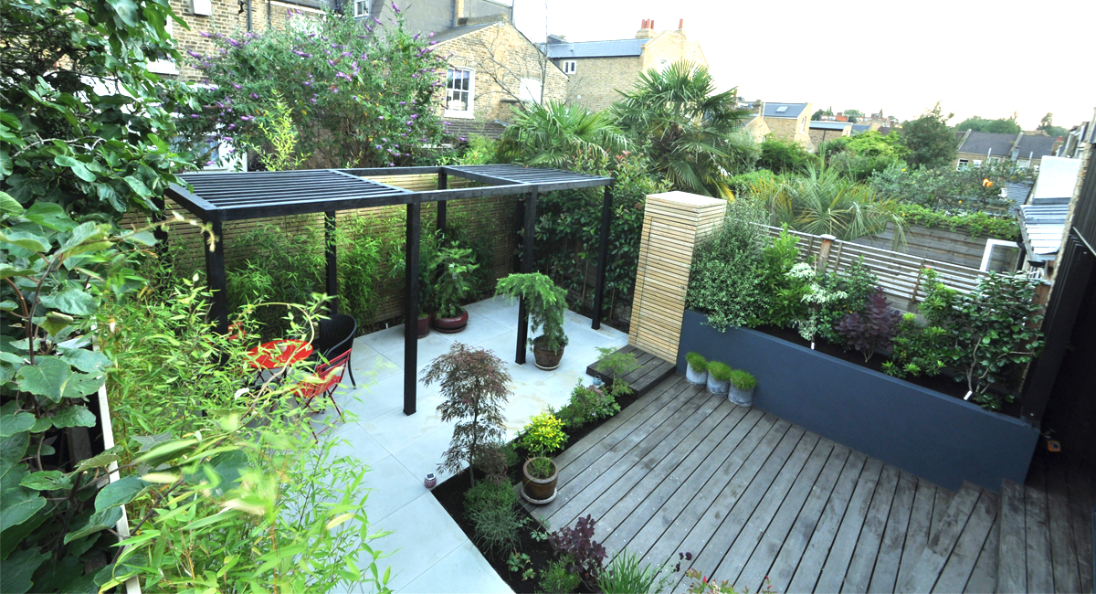 Garden designers and landscapers in london bamboo for Garden design ideas for medium gardens